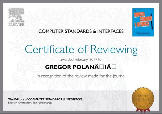 Reviewer recognition